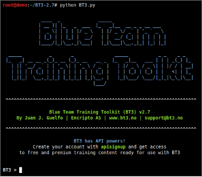 The Most Relevant Commands Supported by Blue Team Training Toolkit (BT3)